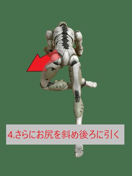 股関節外旋筋ストレッチ